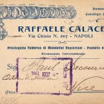 A postcard by Raffaele Calace (1904) - Front with mandolin