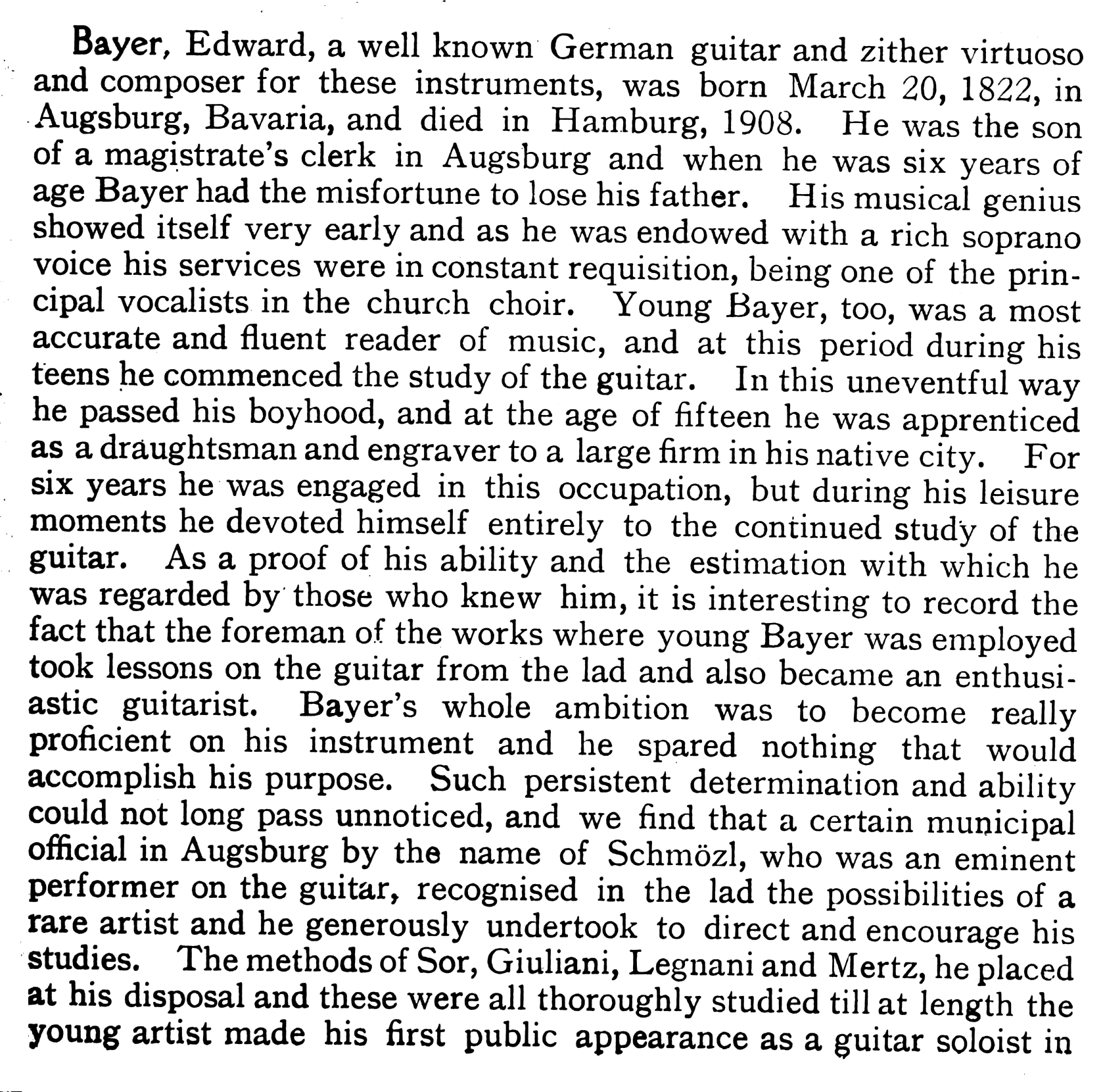 Biography of Eduard Bayer - Part 1