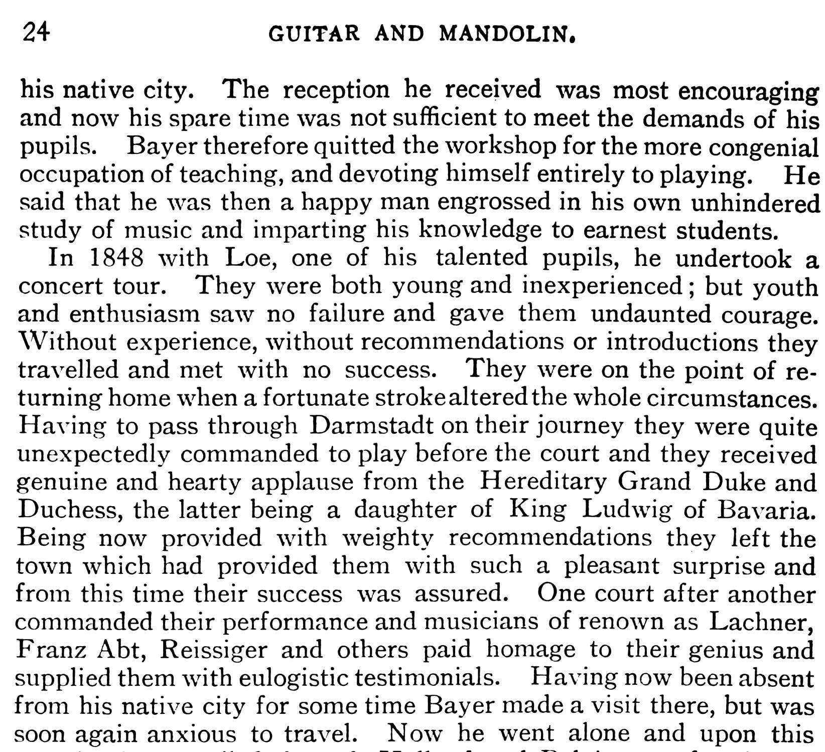 Biography of Eduard Bayer - Part 2