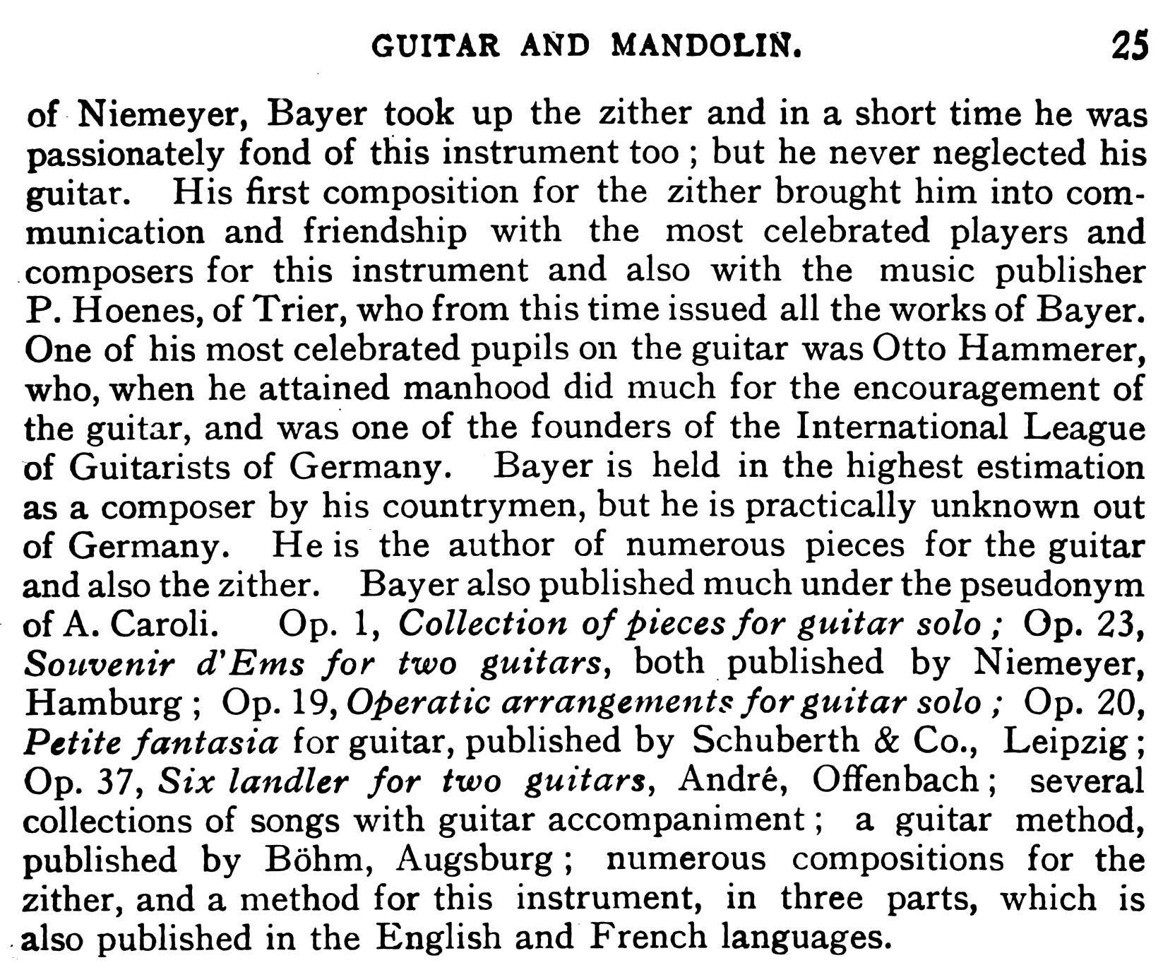Biography of Eduard Bayer - Part 4
