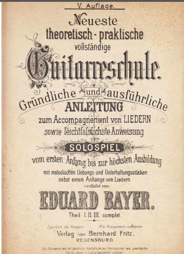 Guitar Method by Eduard Bayer - Cover