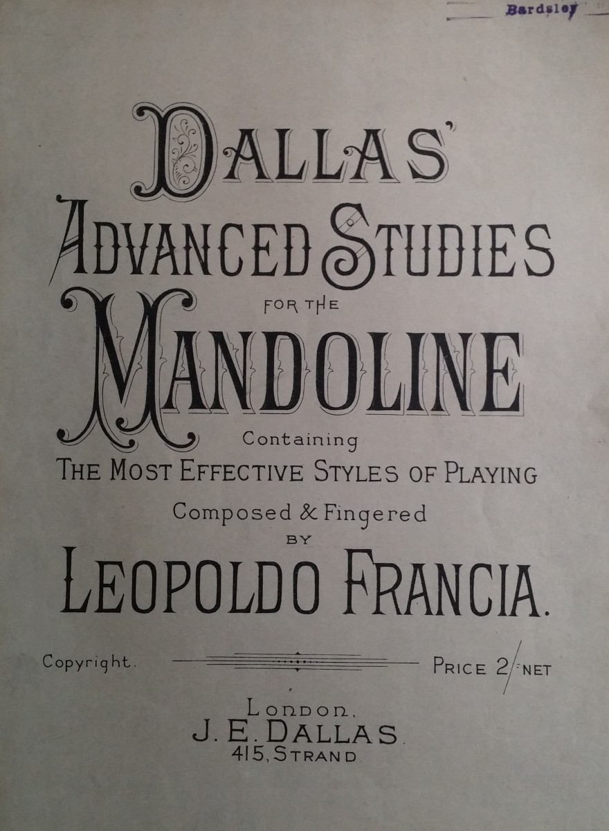 Dallas' Advanced Studies for the Mandoline