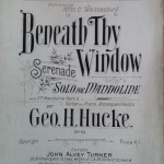 Beneath Thy Window Serenade