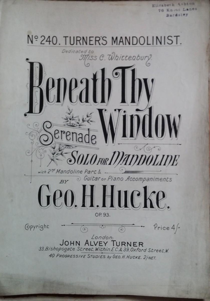 Beneath Thy Window Serenade
