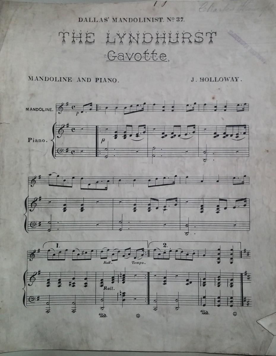 The Lyndhurst Gavotte